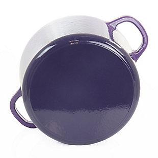 Crock-Pot Artisan 2 Piece 7 Quart Enameled Cast Iron Dutch Oven with Lid in Lavender, Purple, large