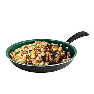 Eco-Friendly Home Hummington 10 inch Green Ceramic Non-Stick Frying Pan in Matte Gray, , rollover