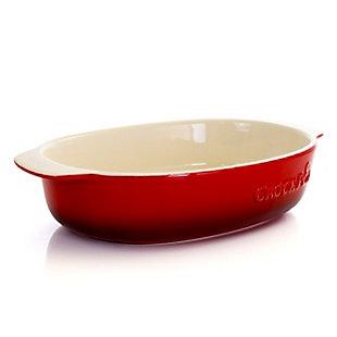 Crock Pot 2.5 Quart Red Stoneware Bake Pan, Red, large