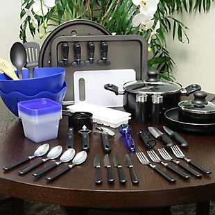 Gibson Total Kitchen 59 Piece Combo Set, , rollover