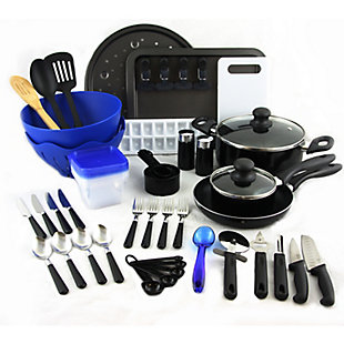 Gibson Total Kitchen 59 Piece Combo Set, , large
