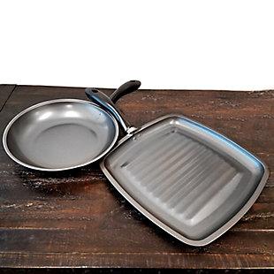 Gibson Westleton  2 piece Cookware Set Black, , rollover