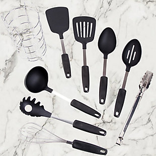 Gibson Chef's Better Basics 9-Piece Utensil Set with Round Shape Wire Caddy, , rollover