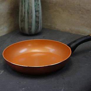 Gibson Cuisine Hummington 12 Inch Aluminum Frying Pan in Metallic Copper, , rollover