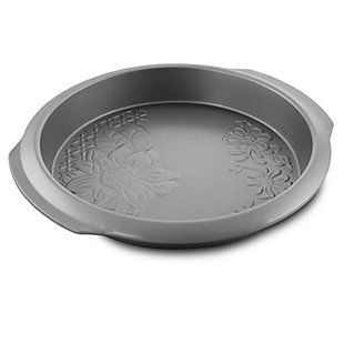 Gibson Home Country Kitchen 9 Inch Embossed Nonstick Round Cake Pan, , large