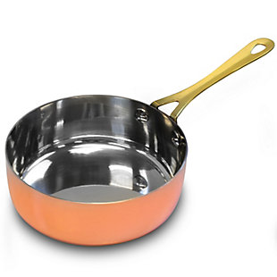 Gibson Home Rembrandt 4.7 Inch Stainless Steel Mini Frying Pan, Copper Plated, , large