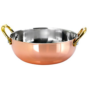 Rembrandt 5.3 Inch 6 Piece Mini Copper Plated Serving Bowls, , large