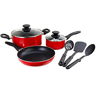 Gibson Home Palmer 8-Piece Cookware Set in Red, Red, large
