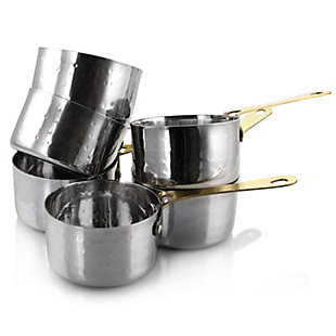 Gibson Home Lannister 6 Piece 3 Inch Mini Stainless Steel Sauce Pan Cookware Serveware Set, , large