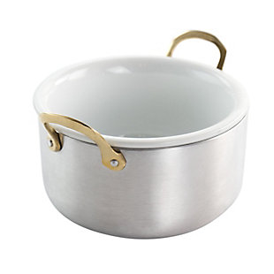 Gibson Home Noble Taste 5.1 Inch Mini Aluminum Dutch Oven with Ceramic Insert, , large