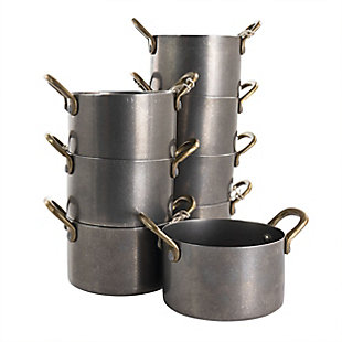 Gibson Home Normandie 8 Piece 4 Inch Stainless Steel Mini Dutch Oven, , large