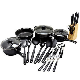 Gibson Home Total Kitchen 32 Piece Cookware Combo Set, , large