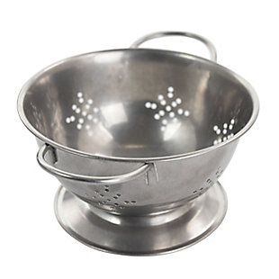 Gibson Home Normandie 5.6 Inch Stainless Steel Mini Colander in Silver, , large