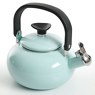 Kenmore 1.5 Quart Enamel On Steel Whistling Tea Kettle in Blue, , large
