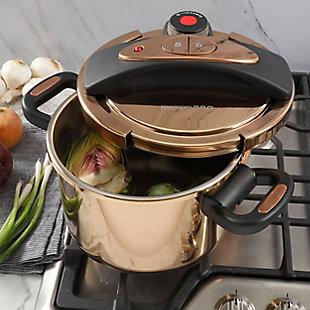 Kenmore Bloomfield 6 Quart Aluminum Pressure Cooker in Rose Gold, , rollover