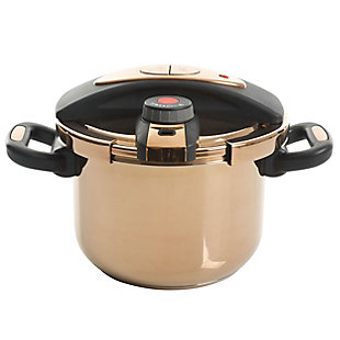 Kenmore Bloomfield 6 Quart Aluminum Pressure Cooker in Rose Gold, , large