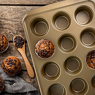 Kenmore Elite 12 Cup Nonstick Carbon Steel Muffin Pan, , rollover