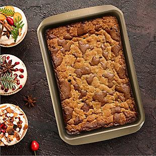 Kenmore Elite 13 Inch Nonstick Carbon Steel Rectangular Cake Pan, , rollover
