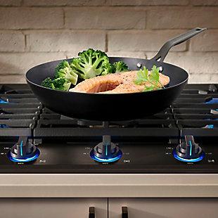 Kenmore Pro 11 Inch Tempered Black Steel Frying Pan in Black, , rollover