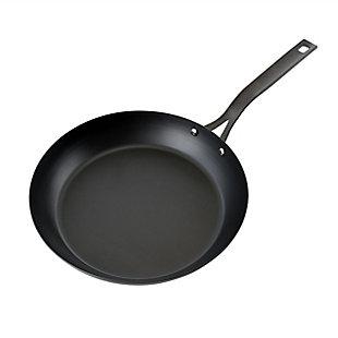 Kenmore Pro 11 Inch Tempered Black Steel Frying Pan in Black, , large
