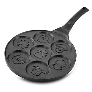 MegaChef Fun Animal Design 10.5 Inch  Nonstick Pancake Maker Pan with Cool Touch Handle, , large