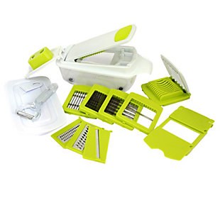 MegaChef 8-in-1 Multi-Use Slicer Dicer and Chopper with Interchangeable Blades, Vegetable and Fruit Peeler an, , large