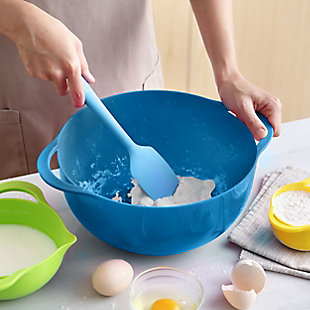 MegaChef Multipurpose Stackable Mixing Bowl and Measuring Cup Set, , rollover