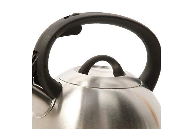 Mr. Coffee Flintshire 1.75 Qt. Stainless Steel Whistling Tea Kettle, , large