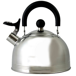 Mr. Coffee Carterton 1.5 Qt Stainless Steel Whistling Tea Kettle, , large