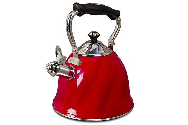 Mr Coffee Alderton 2.3 Quart Tea Kettle in Red, , large