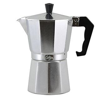 Mr. Coffee Brixia 6-Cup Aluminum Stovetop Espresso Maker, , large