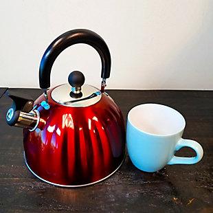 Mr. Coffee Twining 2.1 Quart Pumpkin Tea Kettle in Red, , rollover