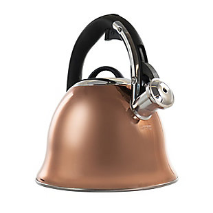 Mr. Coffee Coffield 2.5 Quart Stainless Steel Flare Whistling Tea Kettle in Copper, , large