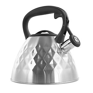 Mr. Coffee Donato 2.3 Quart Stainless Steel Wide Whistling Tea Kettle in Brushed Chrome, , large