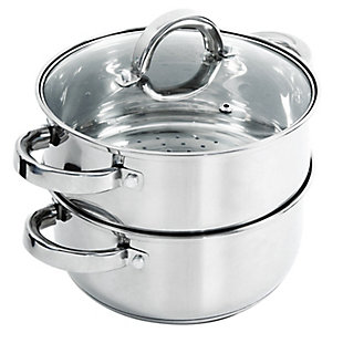 Oster Hali 3-Piece Stainless Steel Steamer Set With Lid, , large