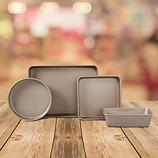 Oster Gale 4 Piece Carbon Steel Bakeware Set in Gold, , rollover
