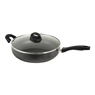 Oster Clairborne 12 Inch Aluminum Saute Pan with Lid in Charcoal Grey, , large