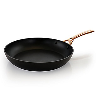Oster Allsberg 12 Inch Aluminum Frying Pan with Bronze Handle, , large