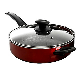 Oster Merrion 10 Piece Nonstick Aluminum Cookware Set in Red, , large
