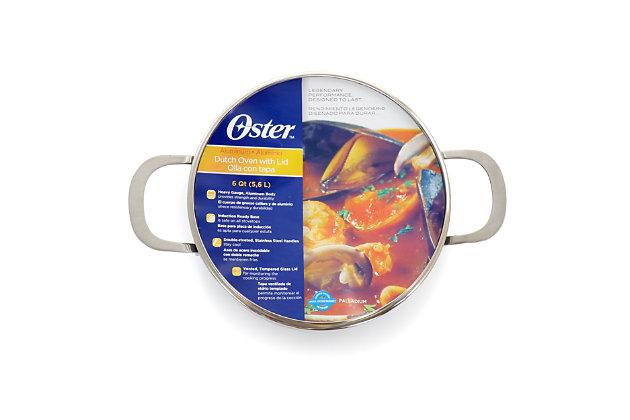 Oster Palladium 6 Quart Aluminum Dutch Oven with Lid, , large