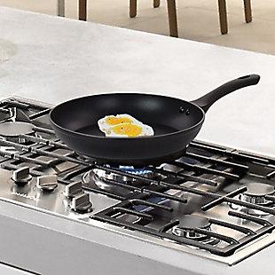 Oster Kono 11 Inch Aluminum Nonstick Frying Pan in Black, , rollover