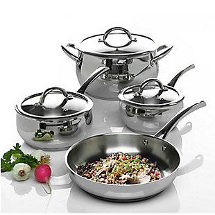 Oster Derrick 7 Piece Stainless Steel Cookware Set, , rollover