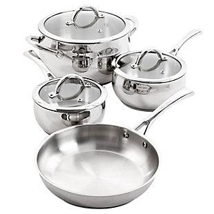 Oster Derrick 7 Piece Stainless Steel Cookware Set, , large