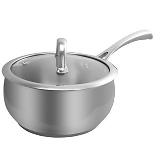 Oster Derrick 2 Qt Sauce Pan W/Lid - Apple Shape - Silver, , rollover