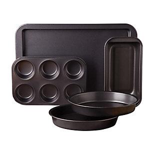 Gibson Love-to-Bake 5 Piece  Xylan Nonstick Carbon Steel Bakeware Set, , large