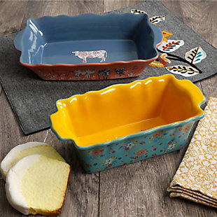 Urban Market Life on the Farm 2 Piece Bakeware Set in Assorted Colors, , rollover