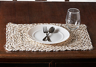 LR Home Woven Bleach and Natural Jute Placemats (Set of 4), , rollover