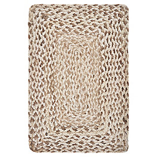 LR Home Woven Bleach and Natural Jute Placemats (Set of 4), , large