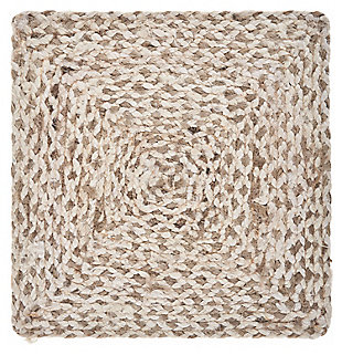 LR Home Woven Bleach and Natural Jute Square Placemats (Set of 4), , large