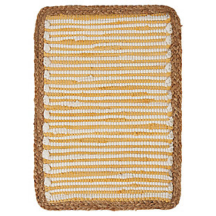 LR Home Striped Sunny Day Bordered Placemats (Set of 4), , large